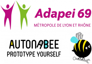 Logos Adapei 69 et AutonaBee